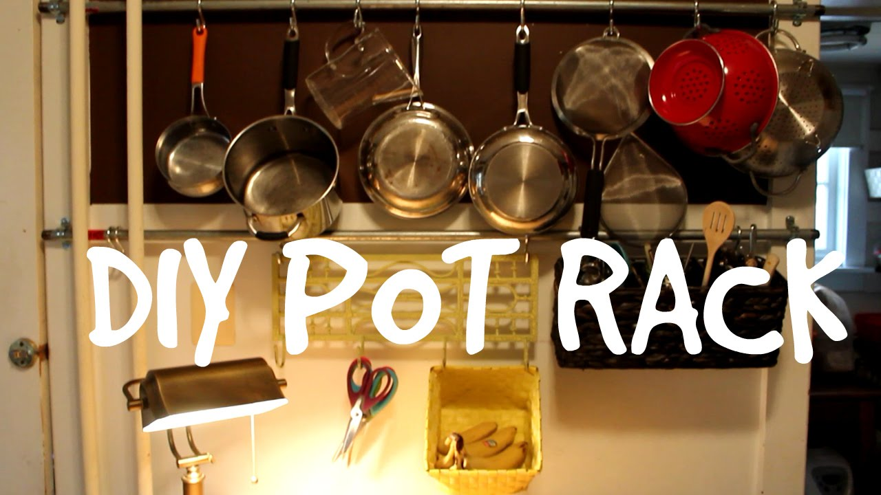 diy pot rack youtube