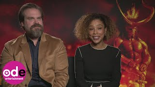 Hellboy Sophie Okonedo says David Harbour looks exactly like the movie character 39in real life39