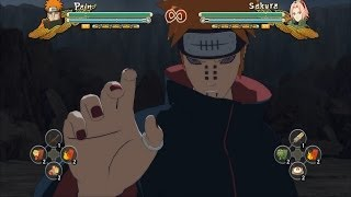 Naruto Shippuden Ultimate Ninja Storm 3 Full Burst Pain Nagato All Jutsu And Combos