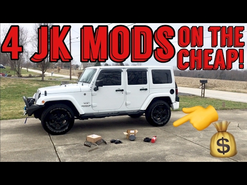 4 Cheap JEEP JK MODS - With Install Instruction