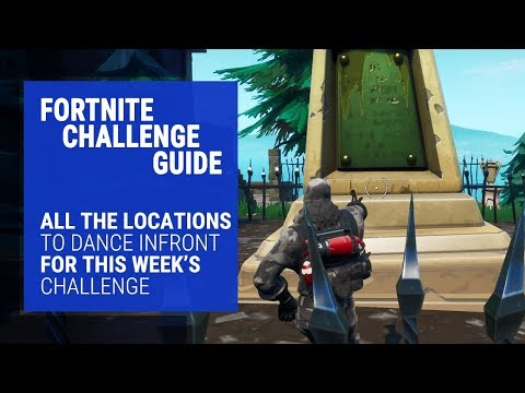 Dance on Top of a Sundial, Oversized Cup of Coffee & Metal Dog Head Challenge Guide Fortnite