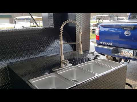 Custom sinks and faucets for catering business pitmaster  bbq smoker grill trailer for sale rentals