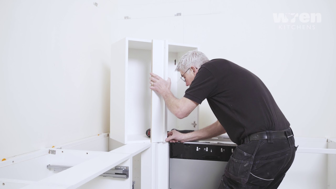 Wren Kitchens Infinity Corner Wall Unit Installation Youtube