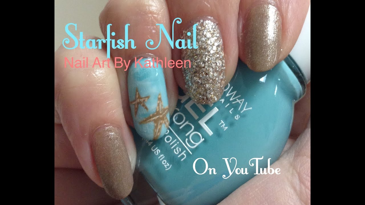 Starfish Nail Art, Easy DIY Nail Design - Starfish Nail Art, Easy DIY Nail Design - YouTube