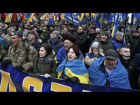 Ukraine : les nationalistes d'extrême droite manifestent à Kiev