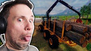 SIMULADOR DE LENHADOR - Lumberjack Simulator (Gameplay em Português PT-BR) #lumberjacksim
