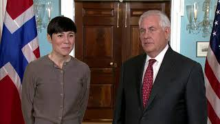 Secretary Tillerson Meets with Norwegian Foreign Minister Søreide