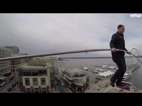 Full video: Nik Wallenda takes on National Harbor