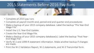 Year End Closing Procedures for Microsoft Dynamics GP Payroll Module