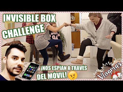 🎄¡INVISIBLE BOX CHALLENGE! 📦  + ¡Nos están ESPIANDO a través del móvil! 😒 | ❄️ VLOGMAS ❄️