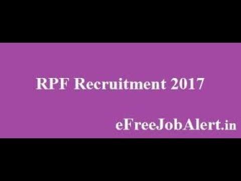 RPF VACANCY 2017 NOTIFICATION  $ RPF LATEST VACANCY 2017॥ RAILWAY