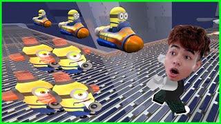 ThắnG Tê Tê Chạy Thoát Khỏi 100 Cái Bẫy của Minions Trong Roblox
