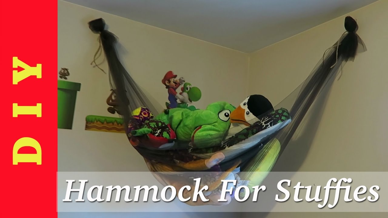 DIY   Stuffed Animal Storage Net/Hammock