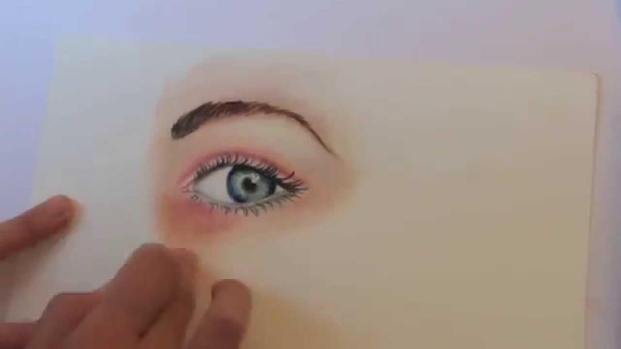 Comment dessiner un oeil avec des crayons de couleurs et - Image a dessiner ...