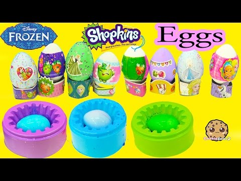 Nail Polish Painting Disney Frozen + Shopkins Easter Eggs DIY Dye Kit - Cookieswirlc Craft Video