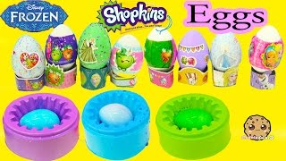 Nail Polish Painting Disney Frozen + Shopkins Easter Eggs DIY Dye Kit - Cookieswirlc Craft Video
