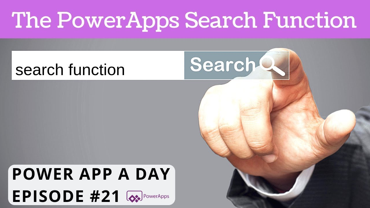 The PowerApps Search Function - YouTube
