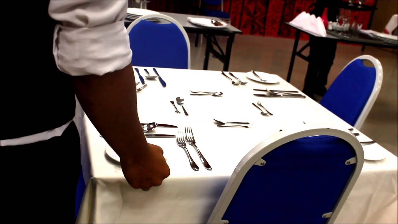 & My3L@CC Basic Table Setting For Fine Dining - YouTube