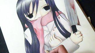 Dibujando a Kotonoha Katsura de (School Days)