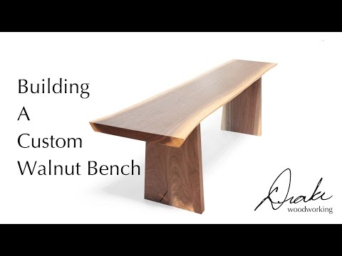 Making A Walnut Bench with Drake Woodworking