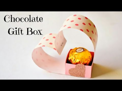 Easy Chocolate Gift Box  | DIY Paper Gift Box Ideas | Cute Gift Packaging Ideas #giftbox