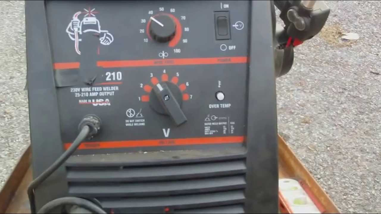 How to set up a welder ( how to set wire speed and voltage on a ...
