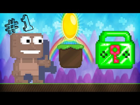 Growtopia | I'm BACK! | From Dirt To Emerald Lock - Ep 1