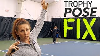 Fix your FLAT trophy pose (serve power & spin)