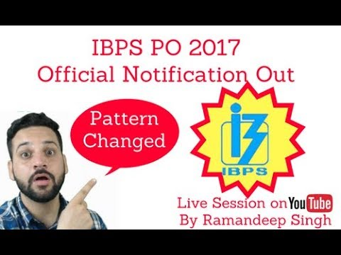 IBPS PO 2017 Notification Out - 3562 Vacancies
