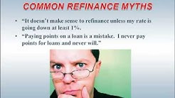 VA Loan Refinance Myths