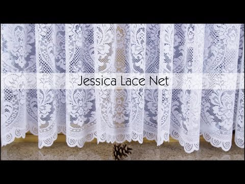 Jessica White Lace Net Curtains - Woodyatt Curtains