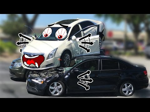 Car Crashes Consecutively by Naughty Doodles in Real Life | Lucky Doodles |