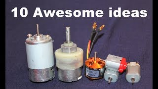 10 Awesome Useful Things From DC Motor DIY Electronic Hobby