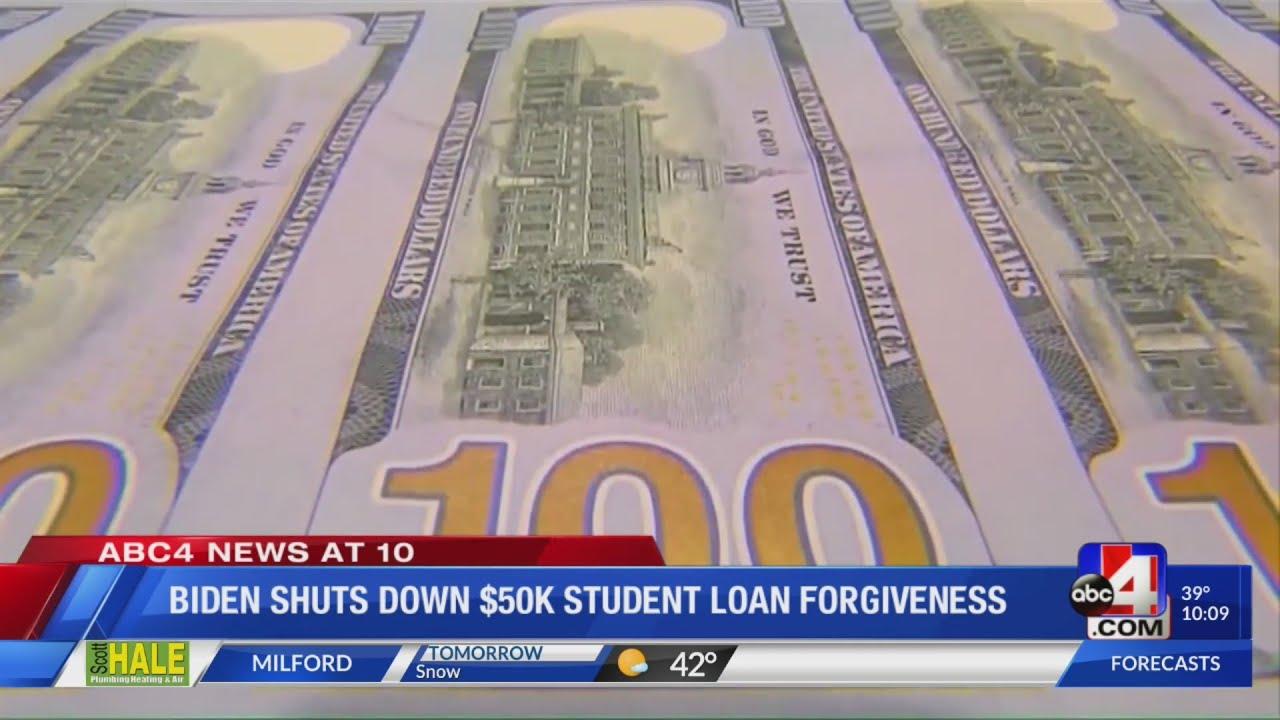 Biden Student Loan Forgiveness Proposal