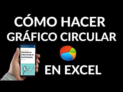 Cómo Hacer un Gráfico Circular en Excel