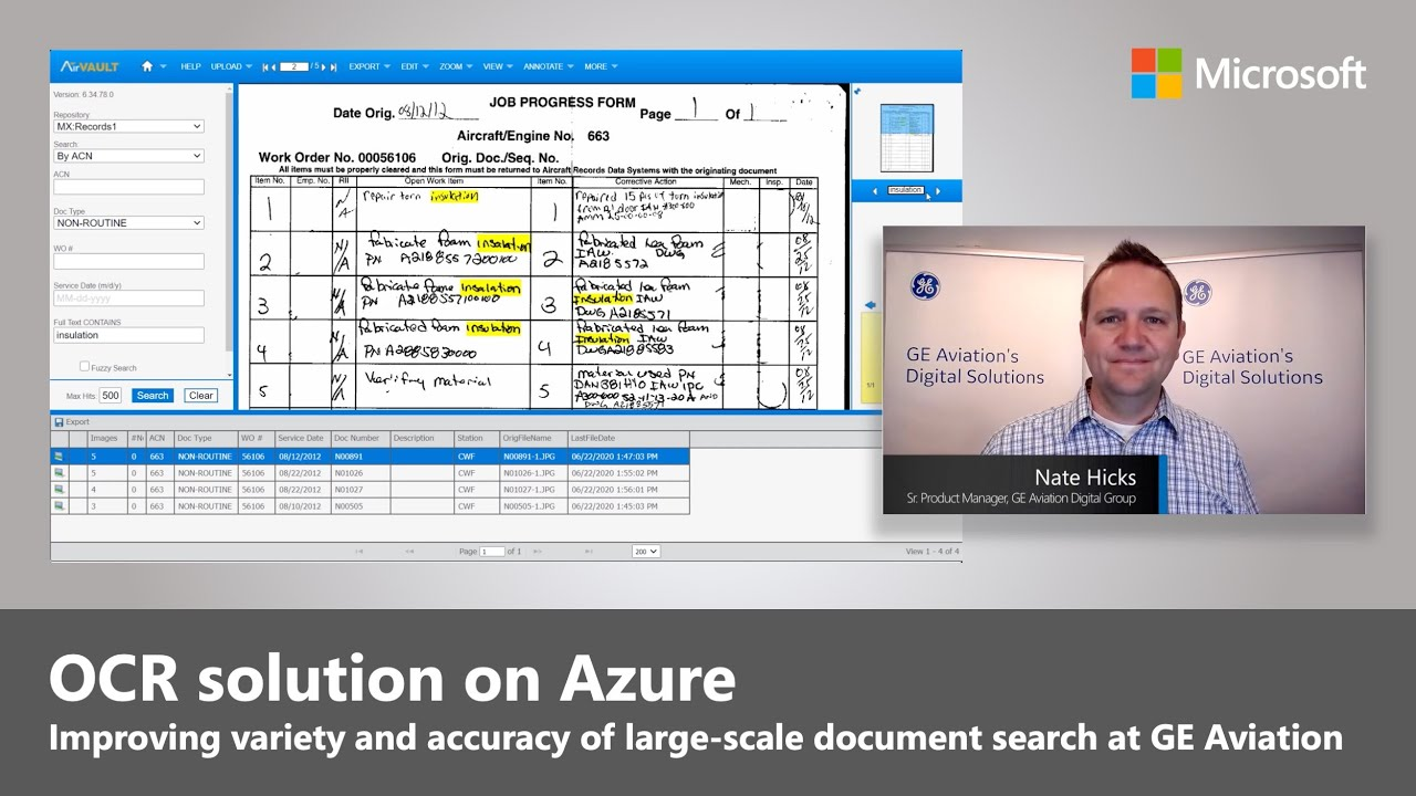 Azure Cognitive Services for OCR |  GE Aviation's Practical Use Case