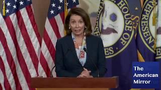 Nancy Pelosi gibberish, bizarre laughing; stares off during brain freeze thumbnail