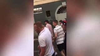Russian vs. English Hooligan Fight in Lille (Euro 2016: 15/06/16)