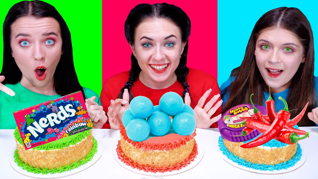 ASMR Cake Decorating Challenge | Eating Sounds LiLiBu #2