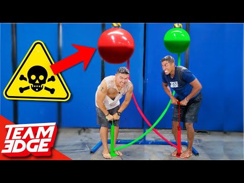 Race to Pop the Nasty Balloon Challenge!! | Don't Let it Pop on You!