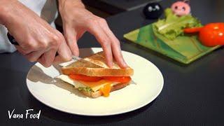 Бутерброд с яичницей за 5 минут