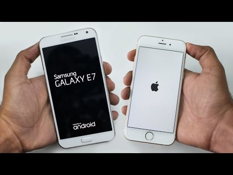 Samsung Galaxy E7 vs iPhone 6 Speed Test 4K
