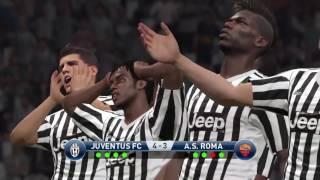 PES 2016 Juventus vs Roma Penalty Shootout