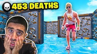 I died 453 TIMES on this IMPOSSIBLE DEATHRUN - Fortnite Creative