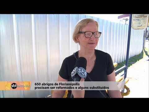 Abrigos de ônibus precisam de reformas em Florianópolis