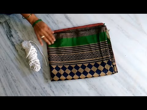 How To Make Door Mat From Old Saree || The Best Out Of Waste From Old Saree ||