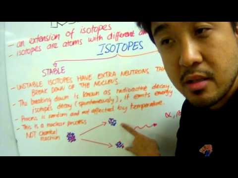 IGCSE Chemistry Radioactivity Lesson 1: Unstable Isotopes