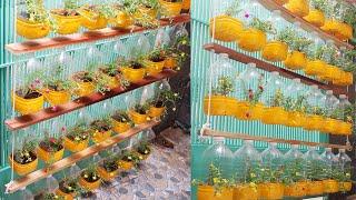Reciclagem de Garrafas de Plástico em Vasos Pendurados de Flores