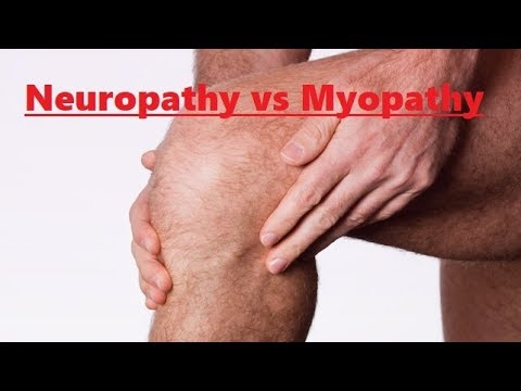 neuropathy vs myopathy key points