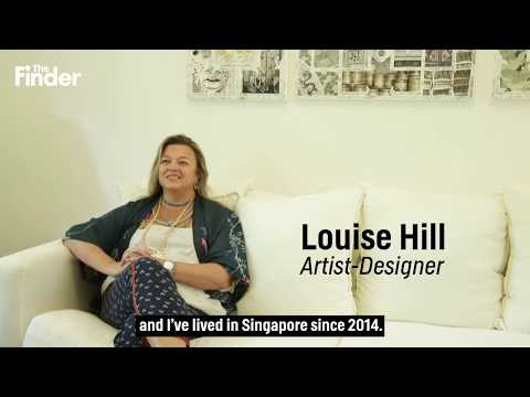 "The Finder Singapore's exclusive ""Meet the Artist: Louise Hill of Louise Hill Design"" video"